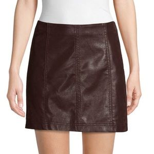 Free People•Faux Suede•Mini Skirt